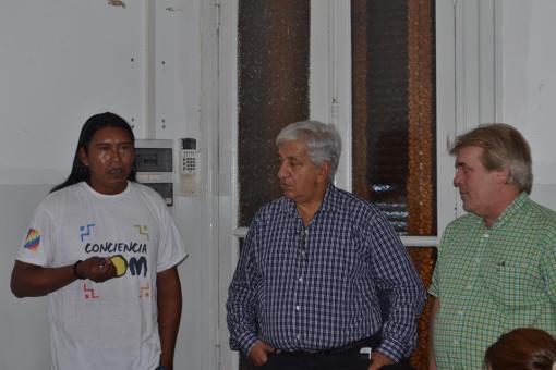 Eduardo Díaz, Julio Piumato y Gustavo Vera